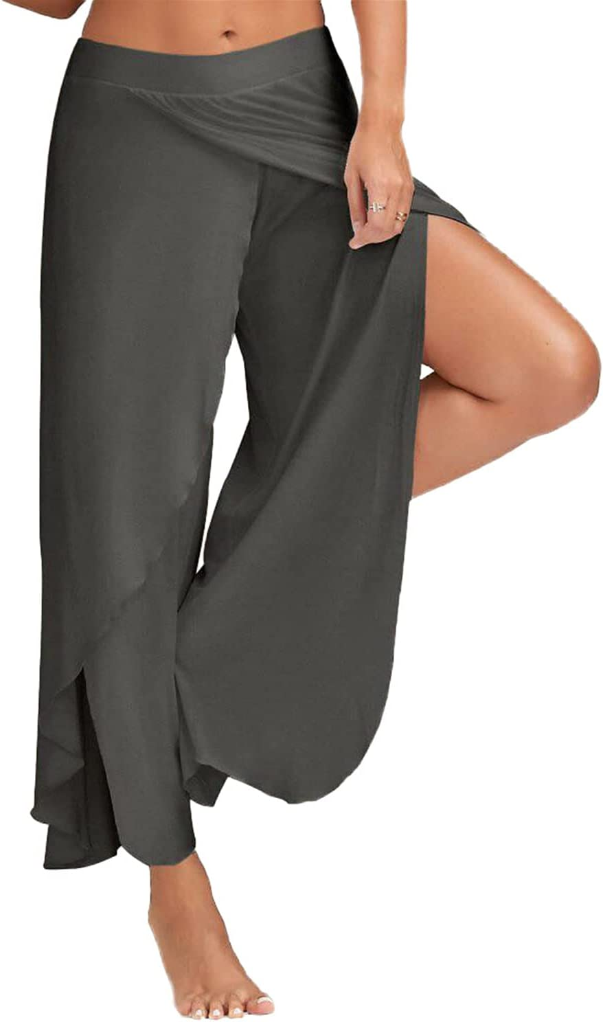 Women's Surprise price Wide Leg Yoga Pants Free shipping anywhere in the nation Lounge Layer High Waist Split