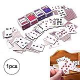 Xiton Mini-Spielkarten Spiele Poker Papier Spielkarten 12.01 Miniatur-Puppenzubehör 1set