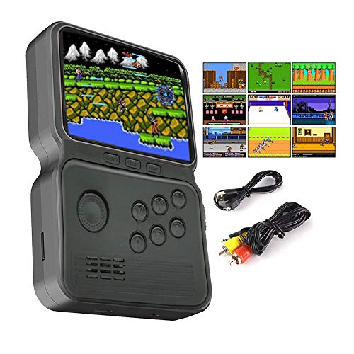 GO-VOLMON Handheld Game Console, 900 in 1 Console with Joystick,3 Inch Mini Game Player with Built-in Games, 16 Bit Gameboy for Kids and Adults, Support Connecting TV and Saving Progress