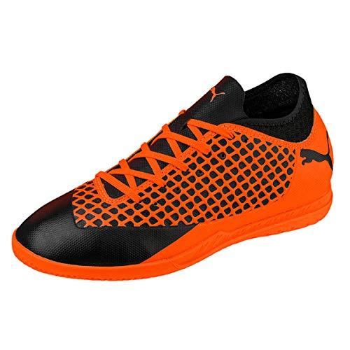 Puma Unisex Future 2.4 IT Fußballschuhe, Schwarz Black-Shocking Orange 02, 37.5 EU