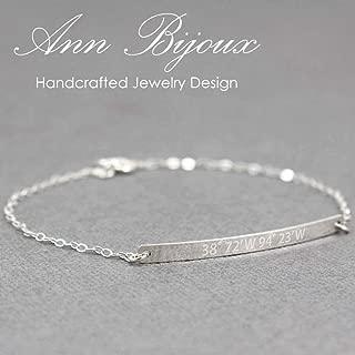 GPS Coordinates Bracelet, Latitude and Longitude, Custom Hand Stamped Bracelet, GPS Bracelet, Personalized Coordinates Bracelet, Mom Gift