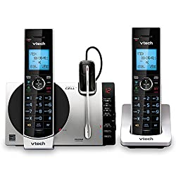 """top rated VTech Connect to CellDS6771-3 Cordless DECT 6.0 Phone – Black, Silver, 6.9 x 4"""" x 6.6 2021"""