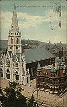 St. Mary's Cathedral and Glebe House Halifax, Nova Scotia Canada Original Vintage Postcard