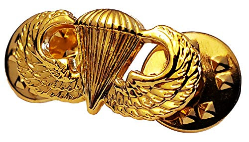 US ARMY Airborne Parachutist Paratrooper MINI Miniature GOLD PLATED Jump Wings Insignia Pin