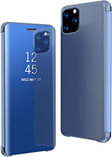 Mi&huaTech For IPhone 11 (2019) Case Smart Clear View Window Electroplate Plating Stand PC Mirror Flip Folio Case Cover Ul...