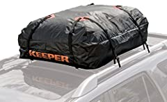 Waterproof rooftop cargo bag with 15 cubic feet of space ; Fits all roof racks Increases vehicle cargo space. Designed to fit all roof racks with attachment capabilities on all four sides, if less than four, caution needs to be taken for secure attac...