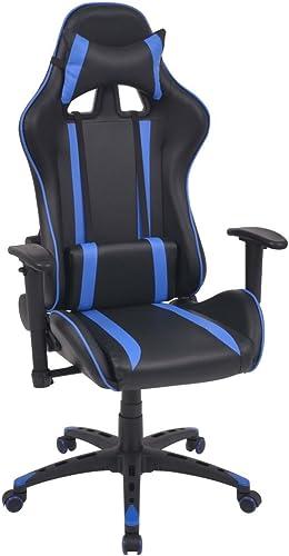 aquí tiene la última XINGLIEU Silla de Escritorio reclinable (Piel Artificial Altura de Brazos Brazos Brazos a Partir del Asiento 17 25cm azul para tu casa o Oficina
