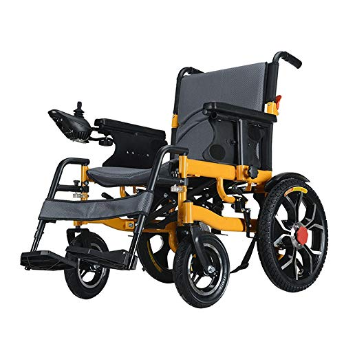 Transport opvouwbare rolstoel Elektrische rolstoelen Folding Lightweight Small Ouderen met een lichamelijke intelligente automatische vierwielig Scooter lithium batterij kan in het vliegtuig