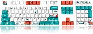 COSTOM Keycaps - Dye Sublimation PBT Keycaps Keyset OEM Profile Upgrade 108 Keycap Set with Puller for DIY 61/87/104 MX Sw...