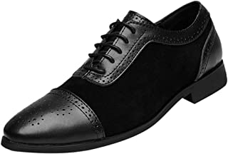 Men's Derby Shoes Pointed Toe Wedding Oxford Shoes British Style Business Dress Single Shoes Leather Suit Shoes