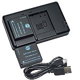 DSTE 2PCS DMW-BLG10(1500mAh/7.4V) Batterie Chargeur Compatible pour Panasonic Lumix...