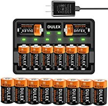 123A Arlo Batteries Rechargeable, 16-Pack 800mAH Arlo Batteries and CR123A Charger for Arlo VMS3130 VMC3030 VMK3200 VMS3330 3430 3530 Cameras, Alarm System, Flashlight