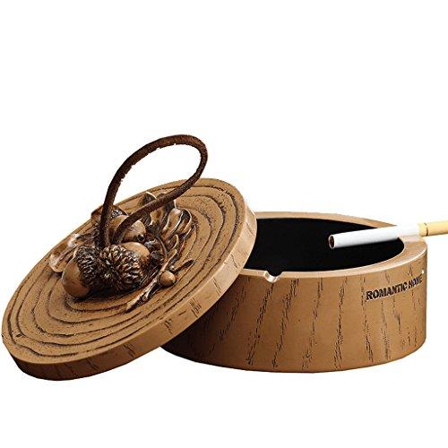 CKH Europäische Vintage Acorn mit Cover Aschenbecher Mode Herren Büro personalisierte Geschenke Wohnzimmer Aschenbecher