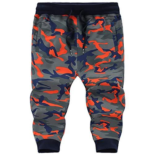 WH-IOE Herren Sommer Badeshorts Männer Casual Shorts Plus Size Camouflage-Hose Gestrickte elastische lose Strumpfhosen Beachsport Schwimmhose (Color : B, Size : L)