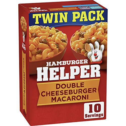 Betty Crocker Hamburger Helper, Double Cheeseburger Macaroni Hamburger Helper, 12.1 Oz Box (Twin Pack)