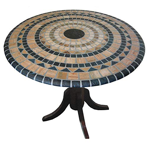 Vesuvius Stone Pattern Mosaic Table Cover - Fits Round 36 Inch pedestal To 48 Inch Tables