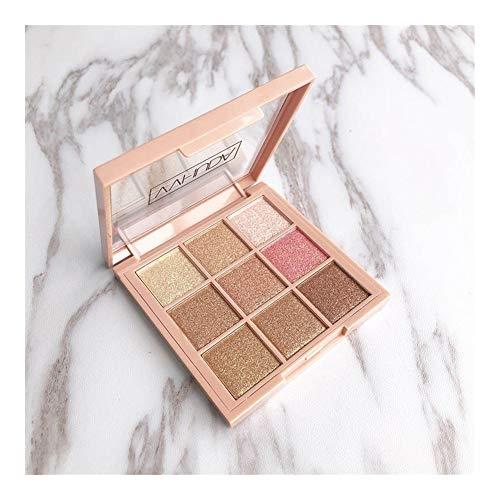 Lidschatten-Palette Make-up Kosmetik Diamant Glitter Metallic 9 Farbe Nude Creamy Pigmented Professional Mini Shadow Kit (Color : New9)