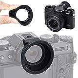 Augenmuschel Gummi Okular für Fujifilm Fuji X-T30 X-T20 X-T10 Sucher (Blitzschuh-Montage) -