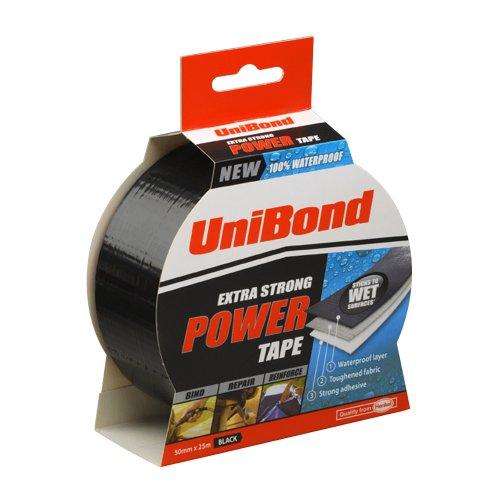 Unibond - Nastro adesivo extra forte, 50 mm x 25 m, colore: Nero