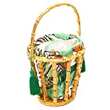 keyren Bolso de bambú Ligero, Bolso de Mano, Fiesta para Vacaciones, Viajes de Mujeres