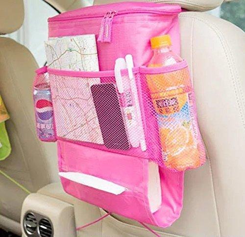 UrCool Organisateur de siège de voiture / Tidy avec sac isotherme et distributeur de tissus, porte-boissons refroidisseur réfrigérateur Se leva