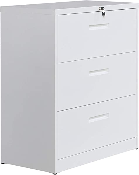 File Cabinet With Lock Lateral File Cabinet Metal Heavy Duty 3 Drawer Office Cabinet White