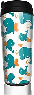 Bei Tang Coffee Cup Cute Cupcake Travel Tumbler Insulated Leak Proof Drink Containers Holder Stylish 12 Ounces