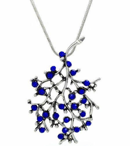 Redondas azul marino en forma de collar con colgante en forma de ramas con brillantes de Fashion/lámpara de techo