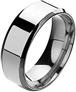 Wogo Mens Wedding Ring Wedding Band Unisex Stainless Steel Rings Jewelry Gifts