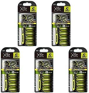 【まとめ買い】Xfit(クロスフィット) 5枚刃カミソリ 4P スリムパック【×5セット】