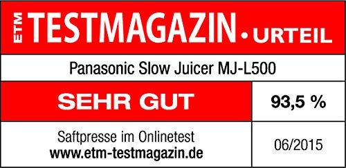 Panasonic MJ-L500S Slow Juicer Sieger unter 200 Euro Bild 3*