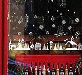 EMIN Fensterbilder Navidad Fenstersticker Cortina ventana PVC Fensteraufkleber Navidad Fensteraufkleber Fensterdeko Fensteraufkleber Fensteraufkleber Weihnachtsdeko