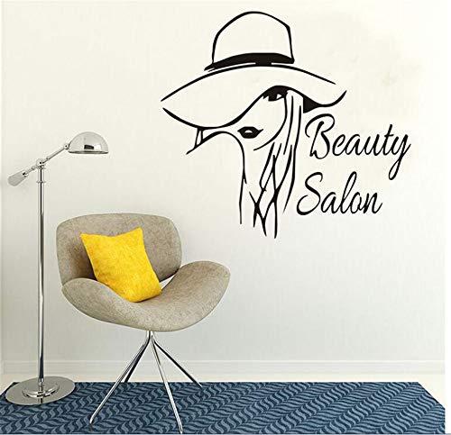 Autoadesivo da Muro Carta da Parati Vinile Decalcomania Arte Beauty Salon Adesivi murali