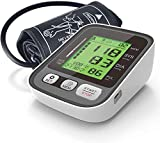 Tensiómetro de Brazo,Monitor Electrónico de Presión Arterial para la Parte Superior del Brazo, Monitor Inteligente y Preciso de Presión Arterial con Manguito para Medir la Presión Arterial