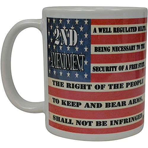 Bandera patriotica de los EE. UU. Taza de cafe Taza de la novedad Regalo America Pro Gun nd Segunda enmienda