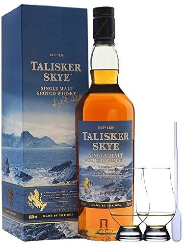 Talisker SKYE Single Malt Whisky 0,7 ltr. + 2 Glencairn Gläser und Einwegpipette