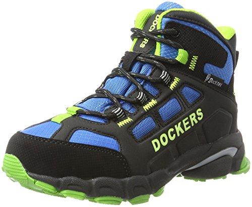 Dockers by Gerli Unisex-Kinder 41BS703-637163 Combat Boots, Schwarz (Schwarz/Royal), 34 EU