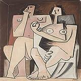 jzxjzx Picasso Figura Abstracta Pintura Decorativa ncleo leo Lienzo impresin Sala de Estar Dormitorio Pintura Colgante 10 40 * 50 cm