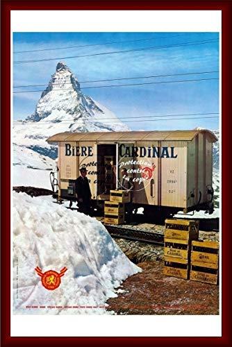 Herbé TM PUB Bier Brasserie Cardinal R102 Poster / Kunstdruck 60 x 80 cm * d1 Poster Vintage (BR*)