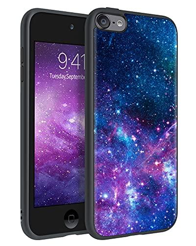 BENTOBEN iPod Touch 7th Generation Case, iPod Touch 6th / 5th Generation Case, Slim Fit Glow in The Dark Soft Flexible Bumper Protective Anti Scratch Non-Slip Cute Phone Cases Cover, Nebula Galaxy