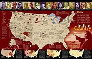 National Geographic: Indian Country Wall Map (31.25 x 20.25 inches) (National Geographic Reference Map)