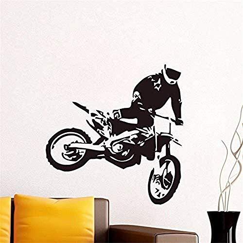 Motorfiets Racing Muurstickers Kinderen s Kamer Verwijderbare PVC Lijm Behang Muurdecoratie Huisdecoratie 59x59cm