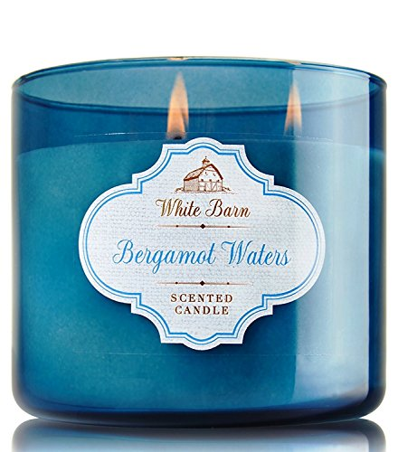 Bath and Body Works White Barn Bergamot Waters 3 Wick Candle 14.5 Ounces