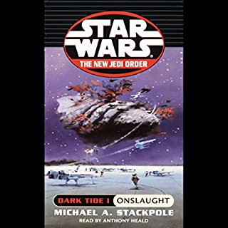 Star Wars: The New Jedi Order: Dark Tide I: Onslaught audiobook cover art