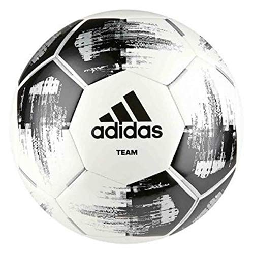 adidas Unisex Adult Team Glider Football - White/Black/Silver Metallic, Size 5