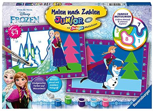 Ravensburger Malen nach Zahlen 27771 - Die Eiskönigin - Für Kinder von 5-7 Jahren