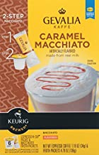 Gevalia Caramel Macchiato 2-Step K-Cup & Froth Packets, 6-Count, 5.6 oz. Box (Pack of 3) [Retail Packaging]