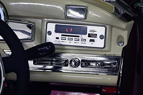 RC Auto kaufen Kinderauto Bild 4: Mercedes Benz 300s Oldtimer Lizenz Kinderfahrzeug mit 2x 35W Motor Kinderauto Elektroauto Fernbedienung MP3 Anschluss in Schwarz*