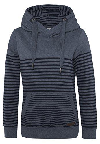 Sublevel Damen D1074L01736A Sweatshirt, Blau (Dawn Blue Melange 19400), 38 (Herstellergröße: M)