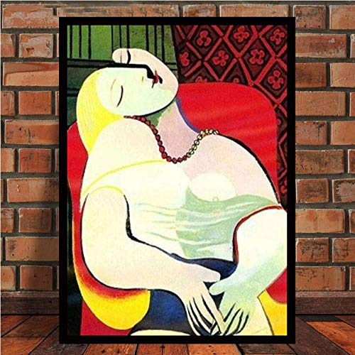 BGFDV Picasso Impresiones gráficas abstractas Lienzo al óleo Lienzo Pintura Artista habitación decoración de la Pared Lienzo Pintura Arte decoración del hogar